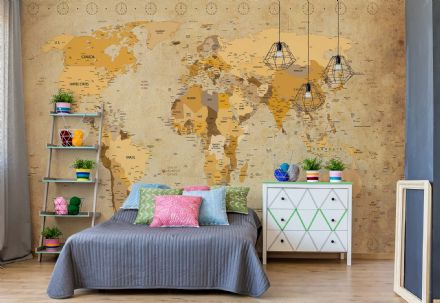 Photo wallpaper Ancient Map of The World